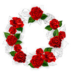 Circle of red roses Stock Photos