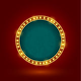 Circle retro sign Royalty Free Stock Photography
