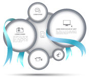 Circle with ribbon for business concept. Can use for background about business concept royalty free illustration