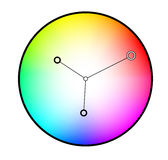 Circle with rim Royalty Free Stock Images