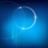 Circle Ring and blue background Royalty Free Stock Photo