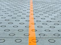 Circle on the road for friction Stock Image
