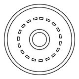 Circle road icon, outline style Royalty Free Stock Photo