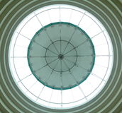 Circle roof. And glass on the top Stock Image