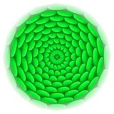 Circle with roof tile pattern in green. Stock Photography