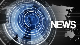 Circle rotating globe  news background 4k stock footage