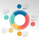 Circle, round infographic. Pie chart, graph. Royalty Free Stock Photos