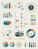Circle, round infographic set elements. Stock Image
