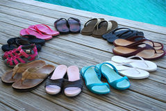 Circle of Sandals Stock Images