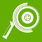 Circle saw icon green Royalty Free Stock Images