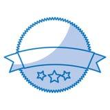 Circle seal emblem icon Royalty Free Stock Image