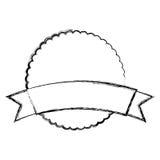 Circle seal emblem icon Stock Image