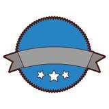 Circle seal emblem icon Royalty Free Stock Photo