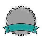Circle seal emblem icon Royalty Free Stock Photography