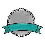 Circle seal emblem icon Royalty Free Stock Photos