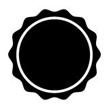 Circle seal stamp lace. Vector illustration design Royalty Free Stock Photos