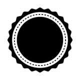 Circle seal stamp lace Royalty Free Stock Photo
