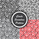 Circle seamless pattern, Abstract background Stock Images