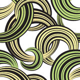 Circle seamless pattern. Abstract striped bubble ornamental background Royalty Free Stock Photo