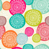 Circle seamless pattern background. EPS10 file. Royalty Free Stock Images