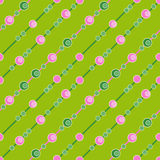 Circle seamless pattern on green background Royalty Free Stock Photography