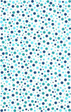 Circle seamless pattern in various colours of blue and green. Circle seamless pattern in various colours of blue, turquoise and green with a brush effect outline Royalty Free Stock Images