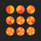 Circle segments vector Stock Photo