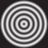 Circle with shaded radial gradient fill. Blurred, defocused circ Stock Photo