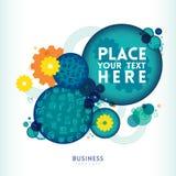 Circle shape Business Design Layout. Blue Circle shape Business Design Layout Royalty Free Stock Photos