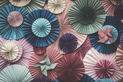 Circle shape Folding paper Stock Images