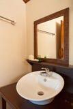 Circle shape hand wash basin Royalty Free Stock Image