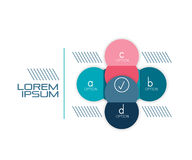Circle shape infographic banner template Stock Photography