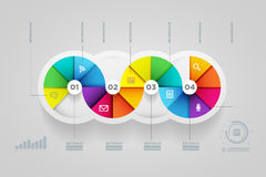 Circle shape infographic design template. Stock Photography