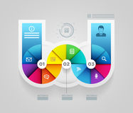 Circle shape infographic design template. Stock Photos