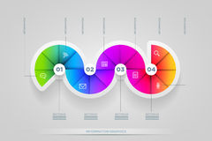Circle shape infographic design template. Royalty Free Stock Image