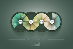 Circle shape infographic design template. Stock Image