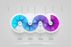 Circle shape infographic design template. Stock Images
