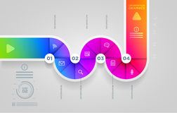 Circle shape infographic design template. Royalty Free Stock Photo