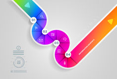 Circle shape infographic design template. Royalty Free Stock Photography