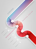 Circle shape infographic design template. Royalty Free Stock Images