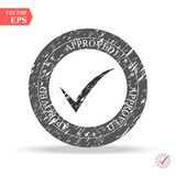 Circle shape OK button for vote, decision, web. Symbol of correct, check, approved Vector illustration. Eps Stock Image