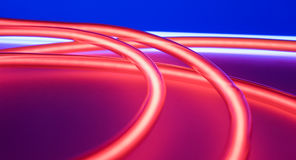 Circle shape red neons Royalty Free Stock Images