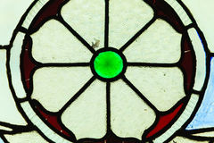 Circle shape stained glass window Royalty Free Stock Photos