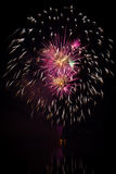 Circle shaped fireworks Royalty Free Stock Photo