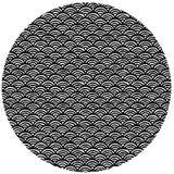 Circle shaped, hand drawn pattern Stock Images