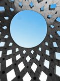 Circle shaped roof of a building Royalty Free Stock Photos