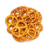 Circle shaped salty pretzels. Royalty Free Stock Photography