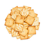 Circle shaped salty snacks. Stock Images