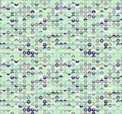 Circle shiny mermqid sequins seamless pattern. Fishscale emroidery. Vector background. stock illustration