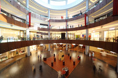 Circle shopping center with four floors Royalty Free Stock Photo